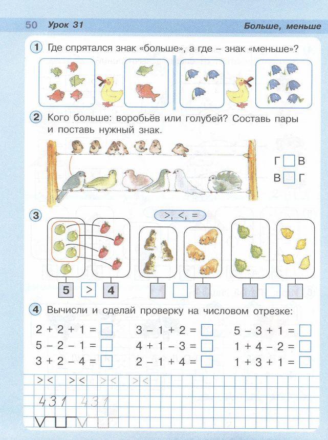 Конспекты уроков 1 класс петерсон