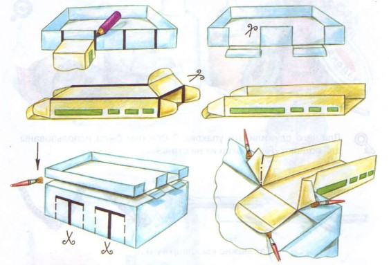 Как сделать гараж из бумаги для машины
