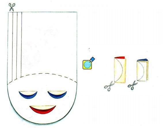 Как сделать из бумаги прически