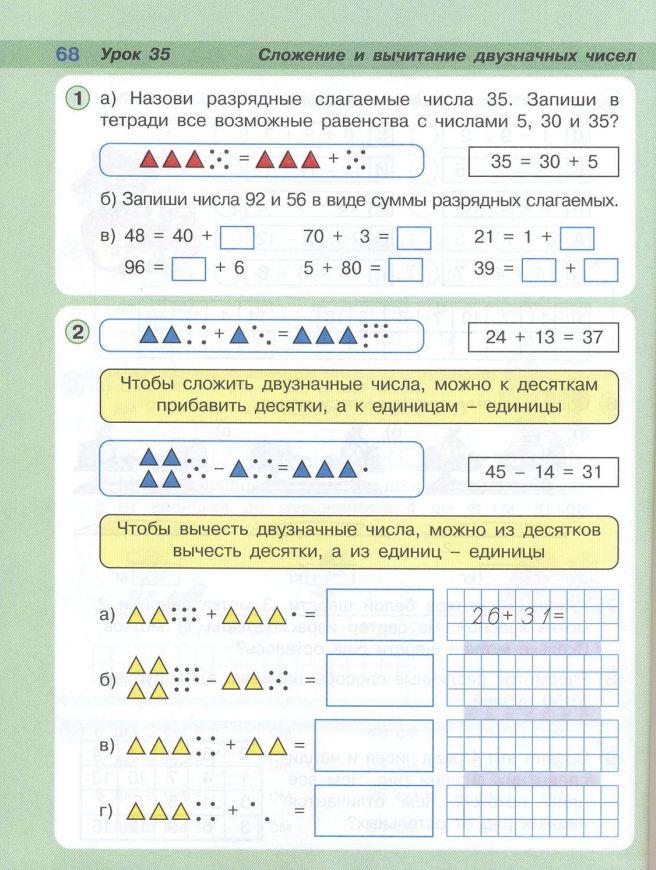 Конспект урока по математике питерсон сложение и вычитание чисел