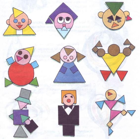 Животные из геометрических фигур своими руками
